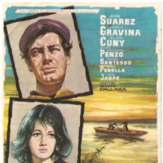Cine: SCANO BOA PROGRAMA SENCILLO UNIVERSAL CINE ESPAÑOL JOSE SUAREZ CARLA GRAVINA. Lote 30362924