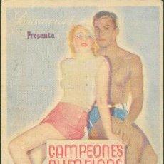Cine: CAMPEONES OLÍMPICOS (CON PUBLICIDAD). Lote 30367473
