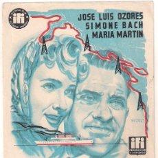 Flyers Publicitaires de films Anciens: PASAJE A VENEZUELA PROGRAMA SENCILLO IFI CINE ESPAÑOL JOSE LUIS OZORES MARIA MARTIN RAFAEL J. SALVIA. Lote 30370071