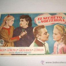 Cine: EL SECRETO DE LA SOLTERONA PROGRAMA DE MANO. Lote 30372574