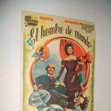 Cine: EL HOMBRE DE MUNDO PROGRAMA DE CINE MANOLO MORAN. Lote 30372630