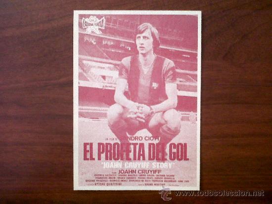 PROGRAMA DE CINE-EL PROFETA DEL GOL-JOAHN CRUYIFF-SALA JUNCARIA-FIGUERAS MAYO 1977 (Cine - Folletos de Mano - Deportes)