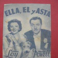 Cine: PROGRAMA DOBLE. ELLA, ÉL Y ASTA. POWELL. LOY. C/P. Lote 30513610