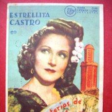Cine: ESTRELLITA CASTRO - LOS MISTERIOS DE TÁNGER - CON PUBLICIDAD. Lote 30525258