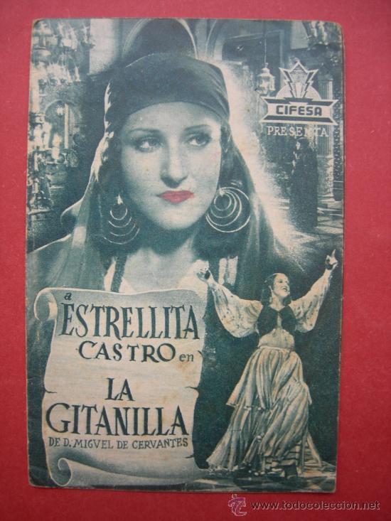 ESTRELLITA CASTRO - LA GITANILLA - CON PUBLICIDAD (Cine - Folletos de Mano - Musicales)