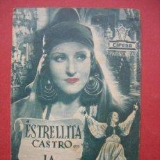Cine: ESTRELLITA CASTRO - LA GITANILLA - CON PUBLICIDAD. Lote 30525438