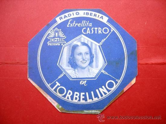 ESTRELLITA CASTRO - TORBELLINO - RADIO IBERIA - CON PUBLICIDAD (Cine - Folletos de Mano - Musicales)