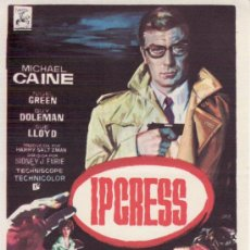Cine: IPCRESS. MICHAEL CAINE.. Lote 36527399