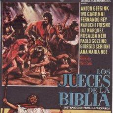 Cine: LOS JUECES DE LA BIBLIA.. Lote 30535464