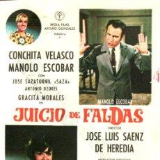 Cine: JUICIO DE FALDAS. CONCHITA VELASCO MANOLO ESCOBAR. Lote 30535502