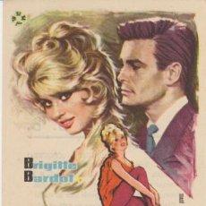 Flyers Publicitaires de films Anciens: LA PEQUEÑA B.B. SENCILLO DE TUSISA FILMS. COLESEUM GARCILAZO - TORRELAVEGA 1964.. Lote 30571734