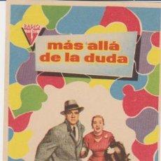 Flyers Publicitaires de films Anciens: MÁS ALLÁ DE LA DUDA. SENCILLO DE RADIO FILMS.. Lote 30583712
