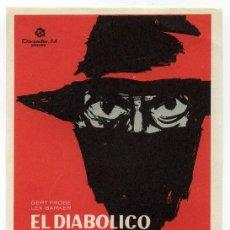 Cine: EL DIABOLICO DR. MABUSE, CON LEX BARKER.. Lote 114644400