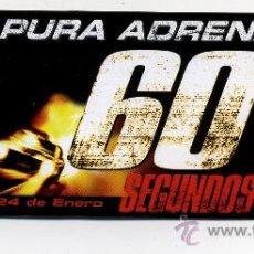 Cine: 60 SEGUNDOS, CON ANGELINA JOLIE.. Lote 243409705