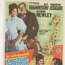 Cine: EL EXTRAVAGANTE DOCTOR DOLITTLE. SENCILLO DE 20TH CENTURY FOX. TEATRO GRAN VÍA - SA-. Lote 30690058