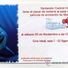Cine: BUSCANDO A NEMO. DIBUJOS ANIMADOS.. Lote 218442828