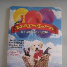 Cine: NAPOLEON EL PERRITO AVENTURERO - FOLLETO DE MANO ORIGINAL ADHESIVO DEL ESTRENO. Lote 30703200