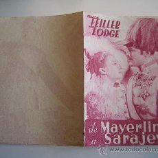 Cine: DE MAYERLING A SARAJEVO - PROGRAMA ORIGINAL DOBLE - MAX OPHULS - JUCA FILMS - FILMOFONO. Lote 30820111