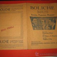 Cine: PROGRAMA CANCIONERO DE CINE DE LA PELICULA MUSICAL BOLICHE CINE TIVOLI . Lote 30778955