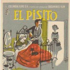 Folhetos de mão de filmes antigos de cinema: EL PISITO. SENCILLO DE COLUMBIA.. Lote 30780080