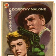 Cine: PROGRAMA CINE - 5 PISTOLAS - JOHN LUND - DOROTHY MALONE - IMPERIAL CINEMA - SALÓN IMPERIAL. Lote 30817020