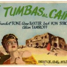 Cine: PROGRAMA CINE - 5 TUMBAS AL CAIRO - FRANCHOT TONE - ANNE BAXTER - ERICH VOON STROHEIM. Lote 30817046