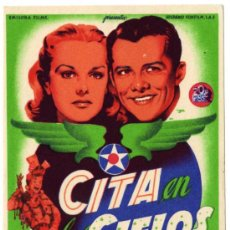 Cine: PROGRAMA CINE - CITA EN LOS CIELOS - LON MCCALLISTER - JEANNE CRAIN - EDMON O´BRIEN. Lote 30818421