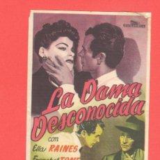 Cine: LA DAMA DESCONOCIDA, ELLA RAINES FRANCHOT TONE, SENCILLO ORIGINAL, SP. Lote 30819835