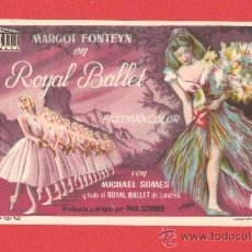 Cine: ROYAL BALLET, MARGOT FONTEYN, IMPECABLE SENCILLO ORIGINAL, SP. Lote 30859175