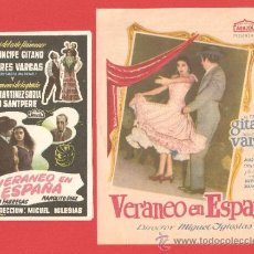 Cine: VERANEO EN ESPAÑA, PRINCIPE GITANO,DOBLE Y SENCILLO,CANCIONEROS, ORIGINALES ARAJOL, IMPECABLES. Lote 30888113