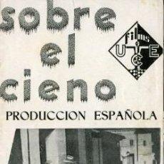 Flyers Publicitaires de films Anciens: SOBRE EL CIENO.- DIFICIL.- DOBLE.- REVERSO IMPRESO 'COLISEUM'. Lote 30936680