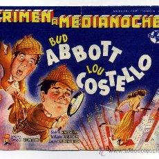 Cine: CRIMEN A MEDIANOCHE, CON BUD ABBOTT Y LOU COSTELLO.. Lote 30938756