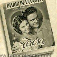 Cine: TERESA -LA HISTORIA DE UNA NOVIA- FOLLETO CON 8 FOTOGRAMAS.- IMPRESO CINE CALDERÓN.. Lote 30946600