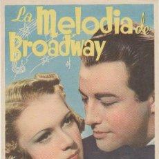 Cine: LA MELODÍA DE BROADWAY. SENCILLO DE MGM. ¡IMPECABLE!. Lote 30956191