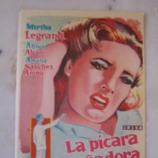 Cine: LA PICARA SOÑADORA ALFREDO ALCON MIRTHA LEGRAND IFISA - FOLLETO DE MANO ORIGINAL ESTRENO. Lote 206403642