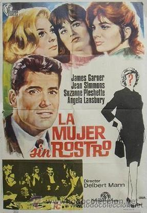 LA MUJER SIN ROSTRO (CARTEL ORIGINAL DE 100X70) (Cine - Folletos de Mano - Suspense)