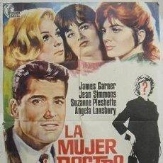 Cine: LA MUJER SIN ROSTRO (CARTEL ORIGINAL DE 100X70). Lote 30961669