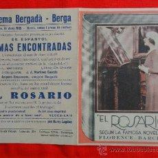 Cine: EL ROSARIO, LOUISA DE MORNAND, ANDRE LUGUET, IMPECABLE DOBLE, 1935, CON PUBLICIDAD CINE BERGADÁ. Lote 30989207