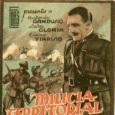 Cine: MILICIA TERRITORIAL.- FOLLETO DOBLE.-. Lote 30997800