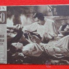 Cine: LA REINA CRISTINA DE SUECIA, TARJETA MGM 1935, GRETA GARBO, CON CREDITOS IZQUIERDA, RARO, CON PUBLI. Lote 31071037