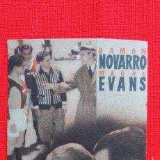 Cine: JUVENTUD DEPORTIVA, PROGRAMA CARTÓN MGM 1942, RAMON NOVARRO, CON PUBLICIDAD CINE ZORRILLA. Lote 31072177