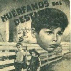 Cine: HUERFANOS DEL DESTINO.- PROGRAMA DOBLE.- REVERSO IMPRESO CINE GADES DE CÁDIZ, AÑO 1940. Lote 31075798