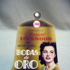 Cine: PROGRAMA DE CINE, FOLLETO DE MANO, TROQUELADO, BODAS DE ORO, MICHAEL WILDING. Lote 31265448