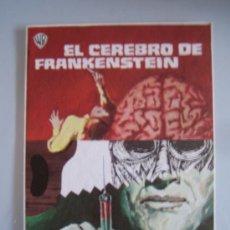 Cine: EL CEREBRO DE FRANKENSTEIN - FOLLETO MANO ORIGINAL TERENCE FISHER FRANKENSTEIN MUST BE DESTROYED. Lote 31133417