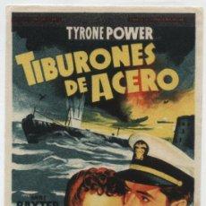 Cine: TIBURONES DE ACERO. SOLIGÓ. SENCILLO DE 20TH CENTURY FOX.. Lote 31168237