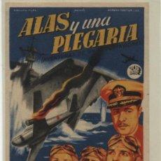 Cine: ALAS Y UNA PLEGARIA. SOLIGÓ. SENCILLO DE 20TH CENTURY FOX. CINE LICEO - MÉRIDA 1947.. Lote 31180936