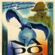 Cine: NAPOLEON, POR ABEL GANCE.- SENCILLO.- CARTULINA.-. Lote 31189477