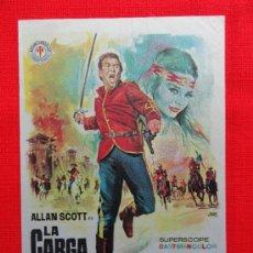 Cine: LA CARGA DE LA POLICIA MONTADA, ALLAN SCOTT, IMPECABLE SENCILLO DE JANO, 1967, CON PUBLI RUBÍ CÍNEMA. Lote 31217672
