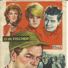Cine: FOLLETO DE MANO - CABALLERO DETECTIVE - 1960.. Lote 31277412