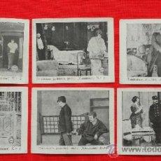 Cine: FANTOMAS PRIMERA PARTE, 6 RECLAM TIKET FILMS, SERIE COMPLETA CON ARGUMENTO, 1913. Lote 31283822
